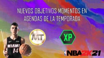 Imagen de NBA 2K21 MyTeam: nuevos objetivos momentos en Agendas de la Temporada