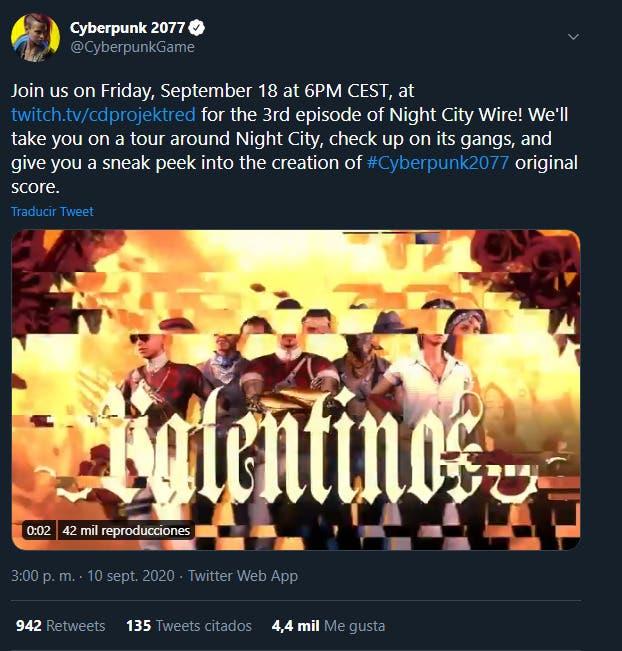 Cyberpunk 2077 anuncia su tercer Night City Wire para la semana que viene