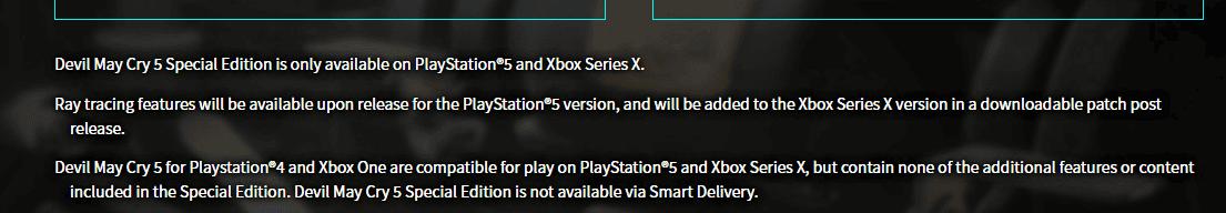 El ray tracing de Devil May Cry 5 Special Edition llegará a Xbox Series X más tarde que en PS5