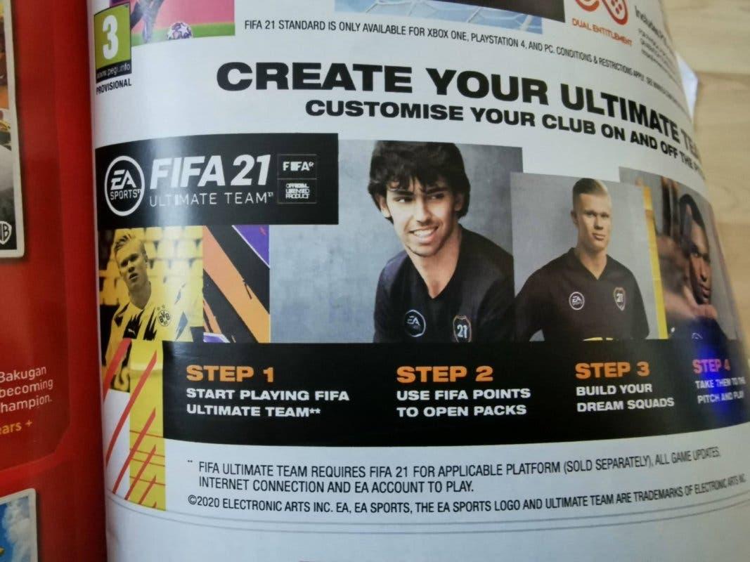 EA es criticada por promocionar FIFA Points para FIFA 21 en una revista de niños