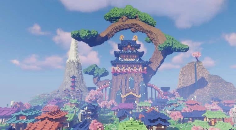 Imagen de Recrean la Wano de One Piece en Minecraft al detalle