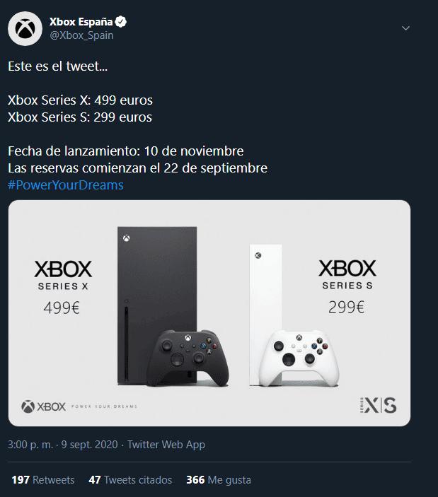 Xbox Series X confirma precio y fecha de lanzamiento