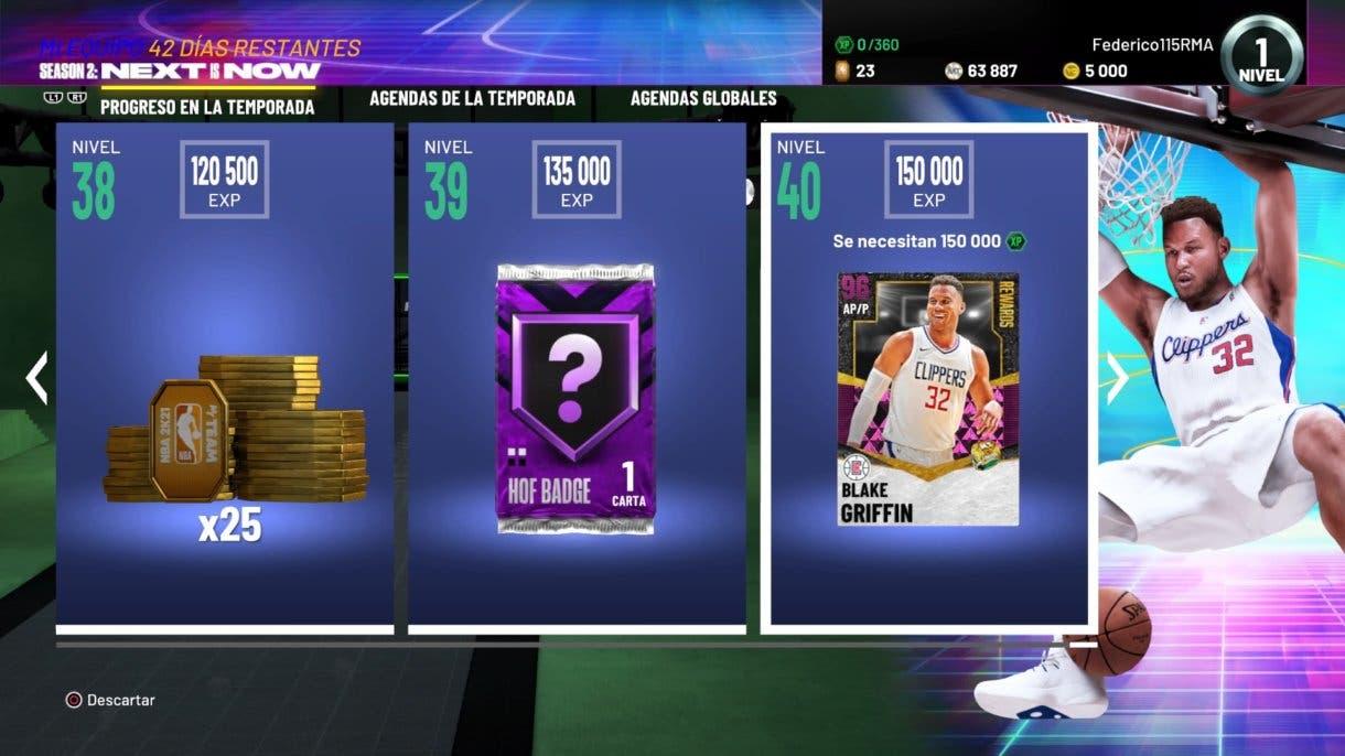 NBA 2K21 MyTeam Temporada 2 Recompensas