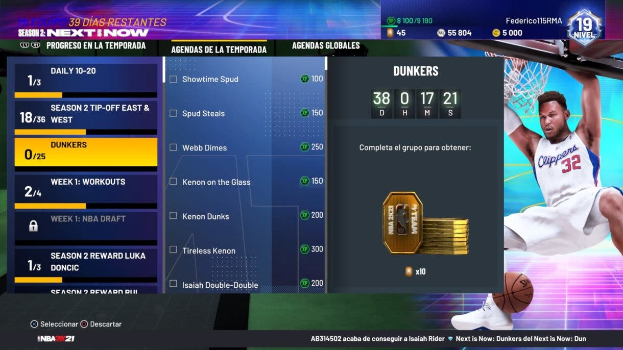 NBA 2K21 MyTeam Dunkers