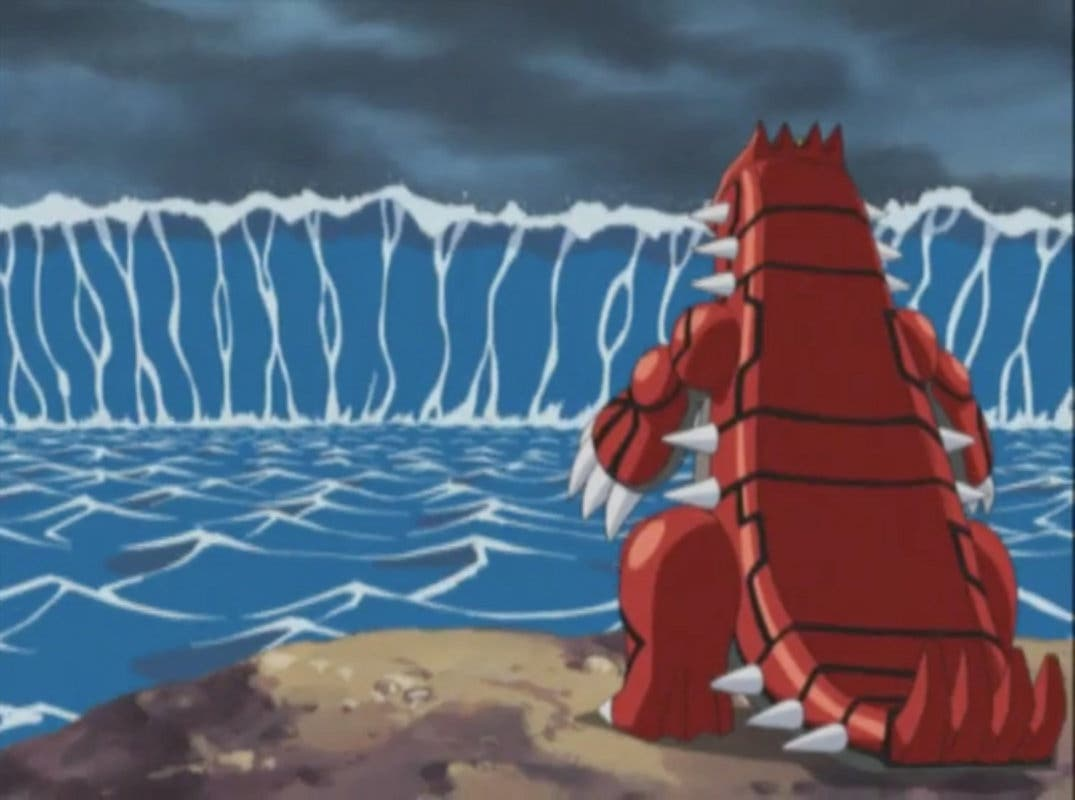 Anime de Pokémon Groudon vs Kyogre