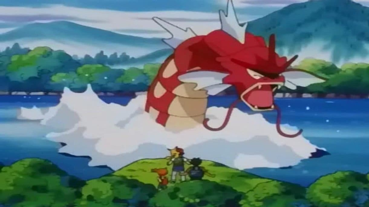 Anime de Pokémon Gyarados rojo