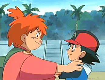 Ash y Morrison anime de Pokémon
