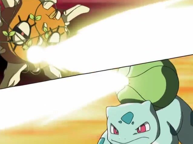 Bulbasaur vs Solrock anime de Pokémon