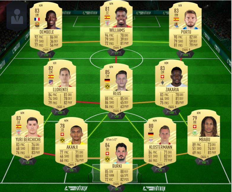 FIFA 21 Ultimate Team plantilla FUT Champions Division Rivals 100.000 monedas
