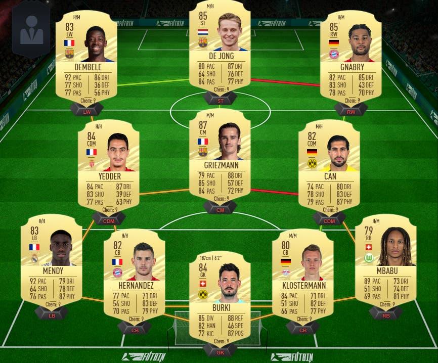 FIFA 21 Ultimate Team equipo 400.000 monedas FUT Champions