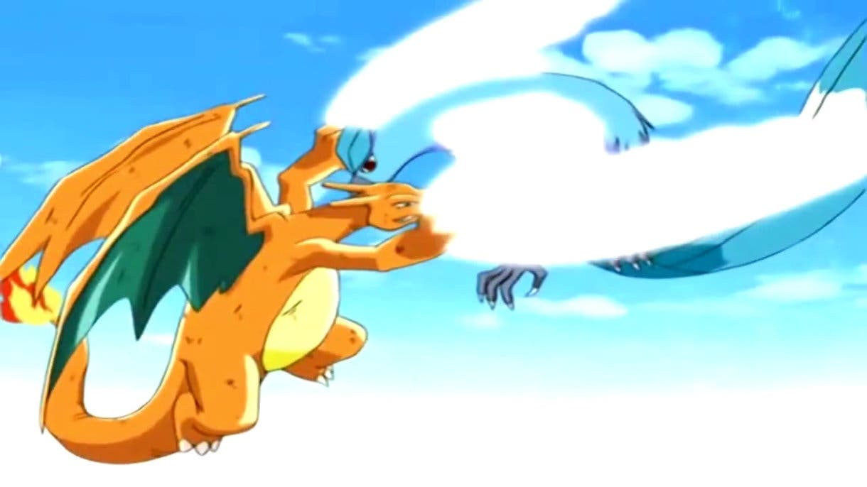 Charizard vs Articuno anime de Pokémon