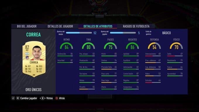 Correa FIFA 21 Ultimate Team