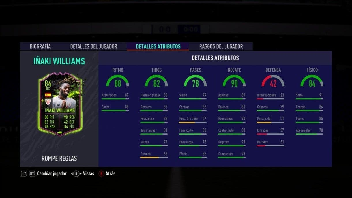 Iñaki Williams Rulebreakers FIFA 21 Ultimate Team regate