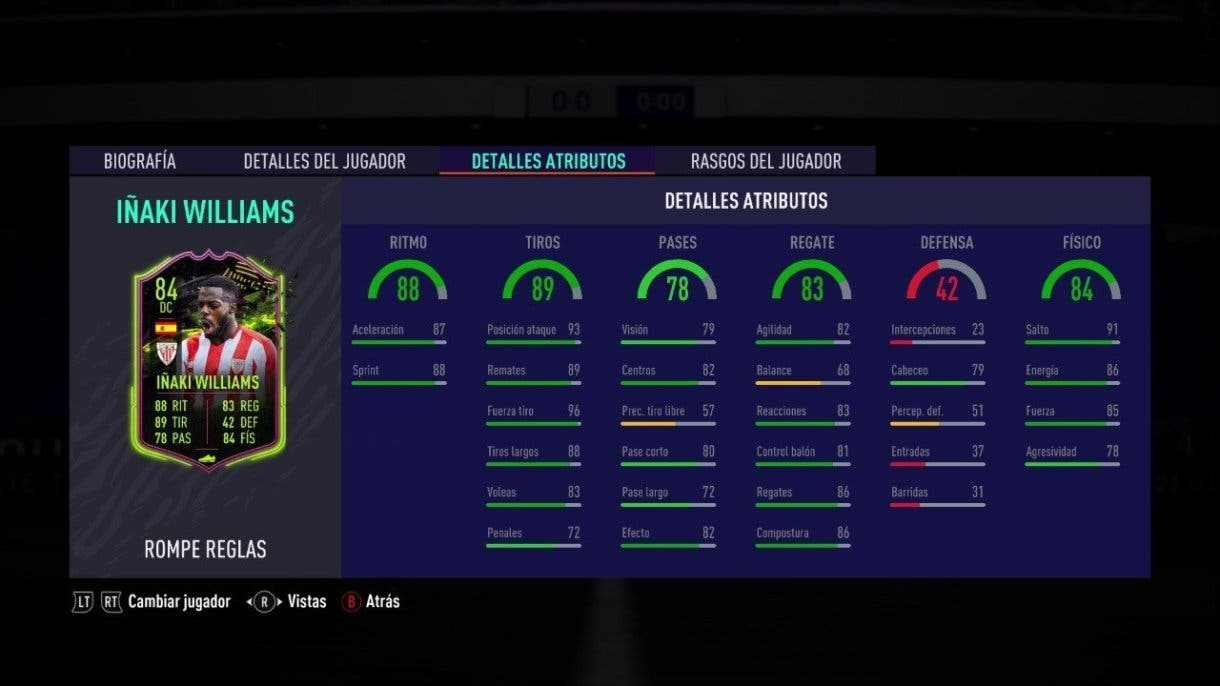 Iñaki Williams Rulebreakers FIFA 21 Ultimate Team tiro
