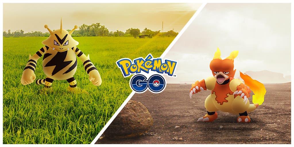 Electabuzz Magmar Pokémon GO