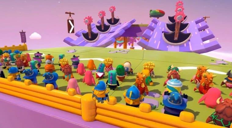Imagen de Fall Guys muestra 'Knight Fever', uno de los niveles de su nueva Temporada 2 con un gameplay