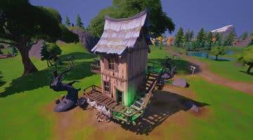 Imagen de Fortnite: Visita distintas cabañas de bruja