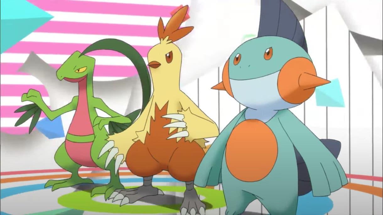 Grovye Combusken Marshtomp Pokémon iniciales