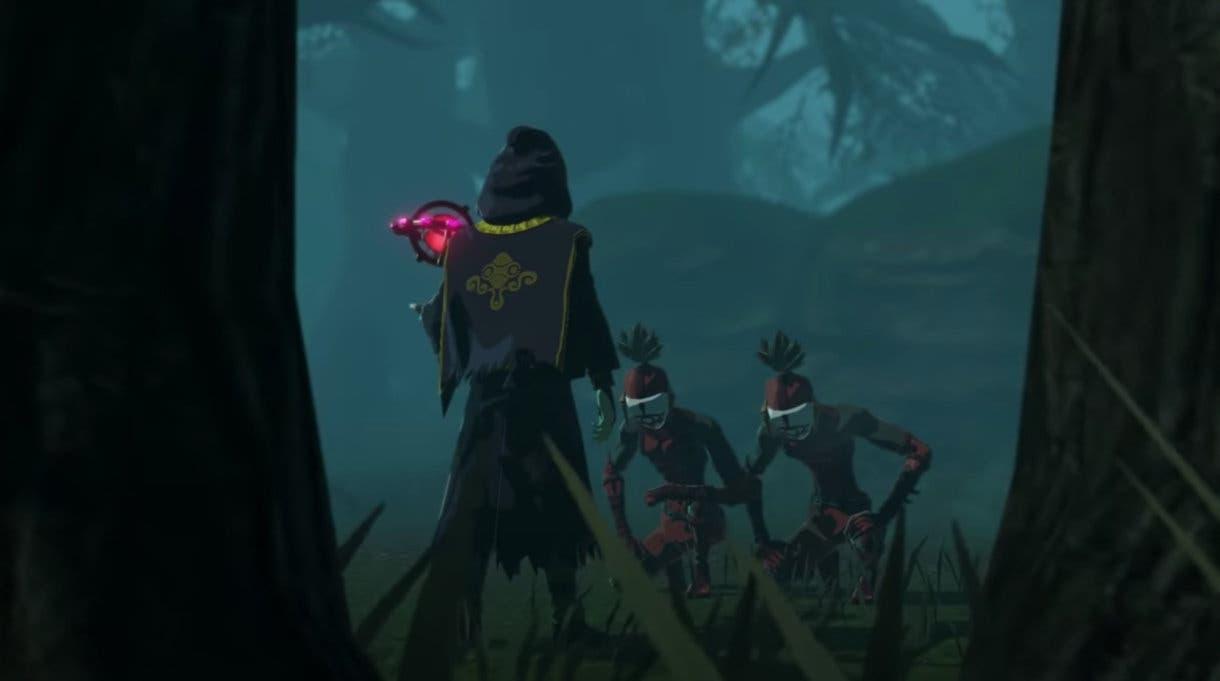 Hyrule Warriors La Era del Cataclismo personaje misterioso espalda