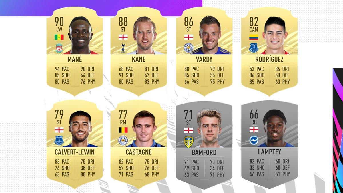 Jugadores nominados POTM Septiembre Premier League FIFA 21 Ultimate Team