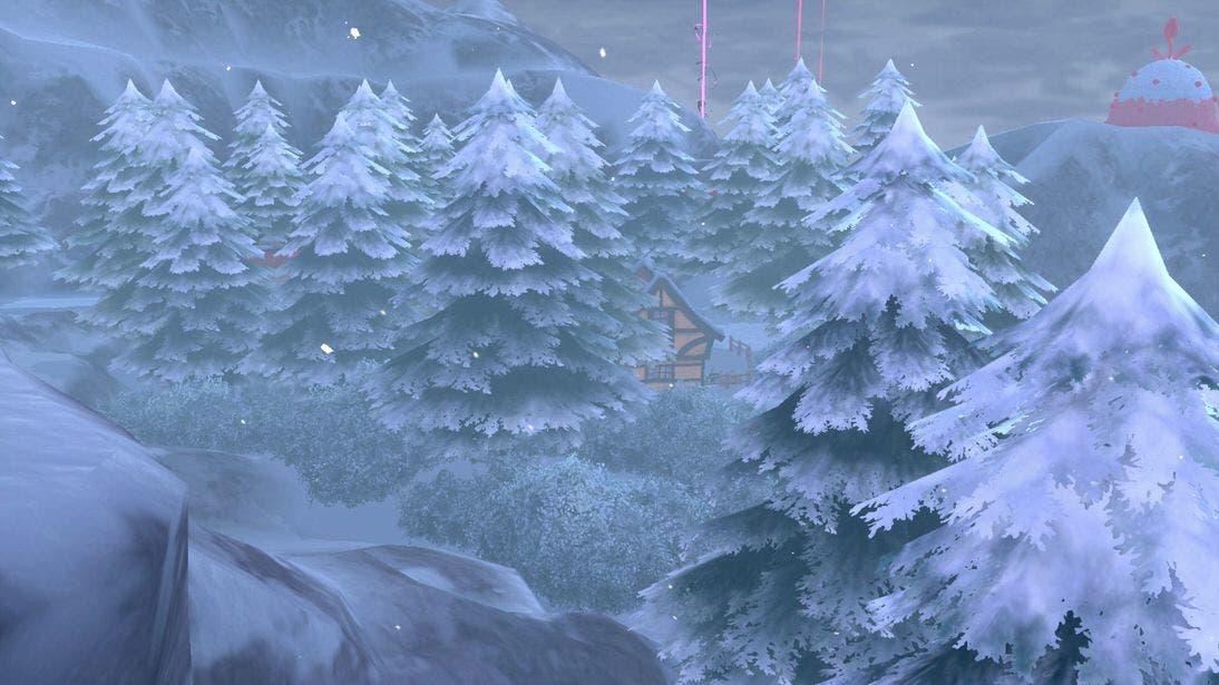 Pokémon Espada y Escudo Nieves de la Corona bosque