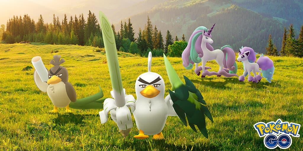 Pokémon GO Farfetch'd Sirfetch'd Ponyta Rapidash Galar