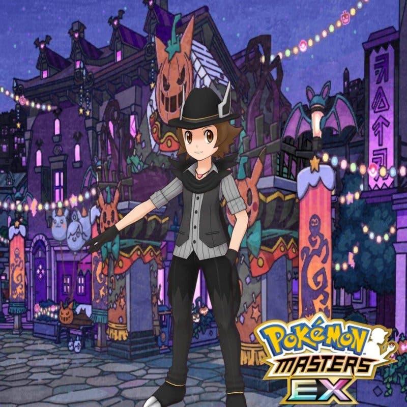Pokémon Masters Lucho traje Halloween