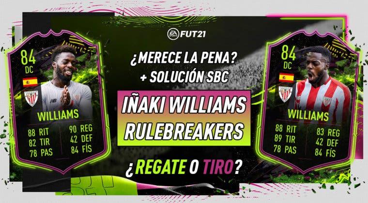 Imagen de FIFA 21: ¿Merece la pena Iñaki Williams Rulebreakers? ¿Qué mejora elijo? + Solución de su SBC