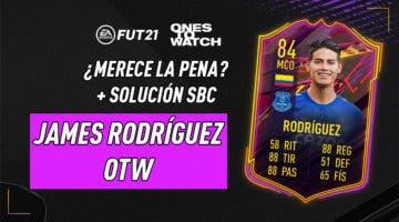 Imagen de FIFA 21: ¿Merece la pena James Rodríguez OTW? + Solución de su SBC
