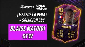 Imagen de FIFA 21: ¿Merece la pena Blaise Matuidi Ones to Watch? + Solución de su SBC