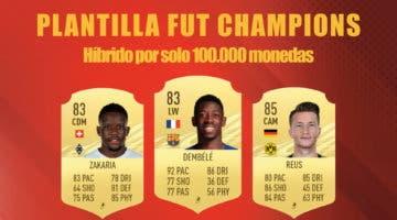 Imagen de FIFA 21: equipo muy barato (solo 100.000 monedas) para competir en FUT Champions y Division Rivals