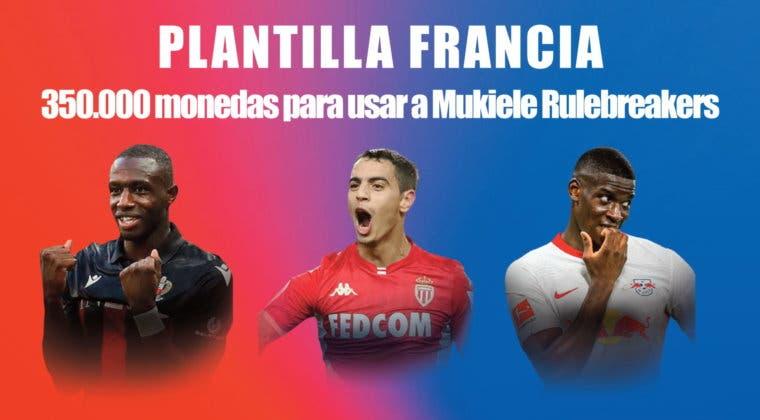Imagen de FIFA 21: equipo competitivo de franceses, por 350.000 monedas, para incluir a Mukiele Rulebreakers