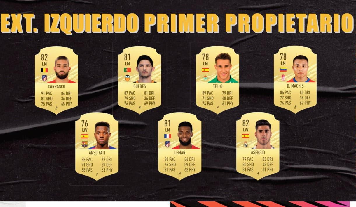 Extremos izquierdos primer propietario Liga Santander FIFA 21 Ultimate Team