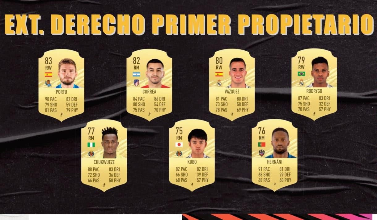 Extremos derechos primer propietario Liga Santander FIFA 21 Ultimate Team