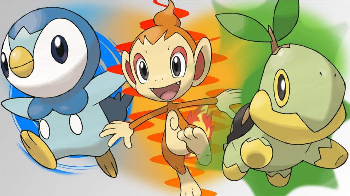 Turtwig Chimchar Piplup Pokémon iniciales