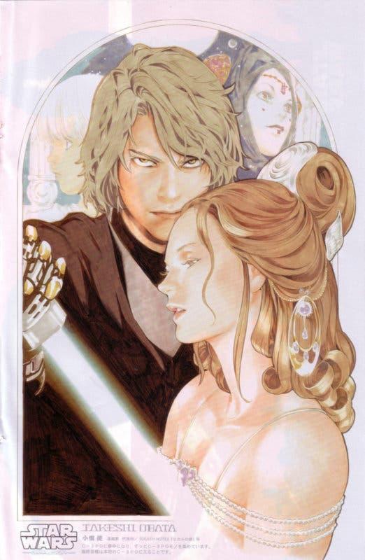 La antigua ilustración del dibujante de Death Note para Star Wars: Episodio III