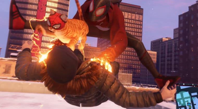 Imagen de Marvel's Spider-Man: Miles Morales revela a Spider-Cat en un nuevo y adorable traje