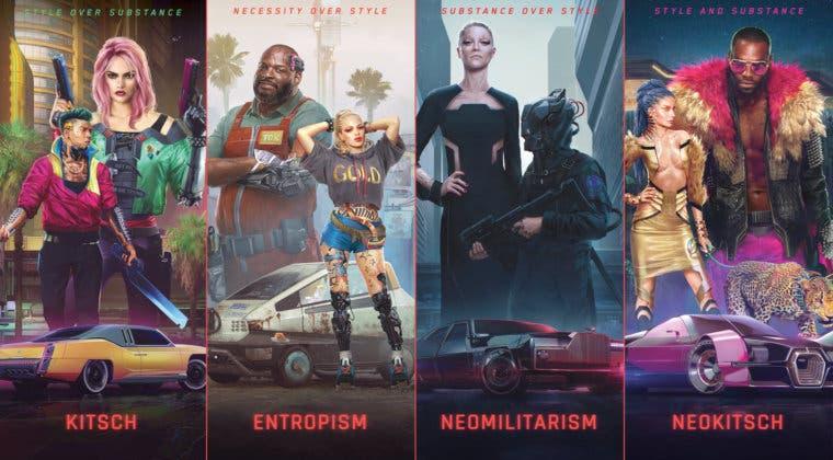 Imagen de Cyberpunk 2077 revela sus 4 estilos de ropa: Kitsch, Entropism, Neomilitarism y Neokitsch
