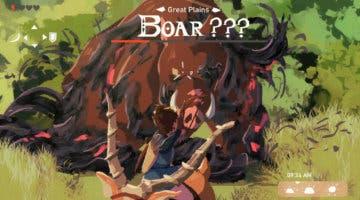 Imagen de Así sería La Princesa Mononoke a lo Zelda: Breath of the Wild