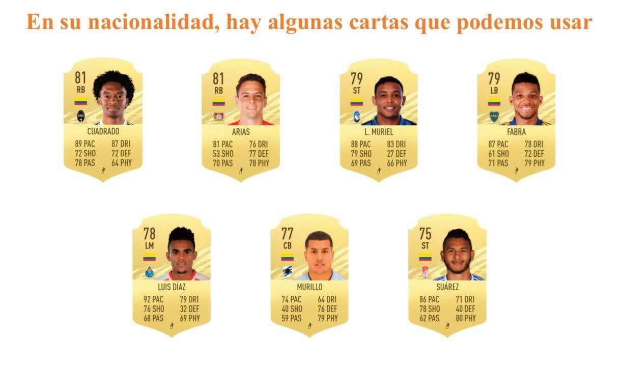 FIFA 21 Ultimate Team James OTW links naranjas