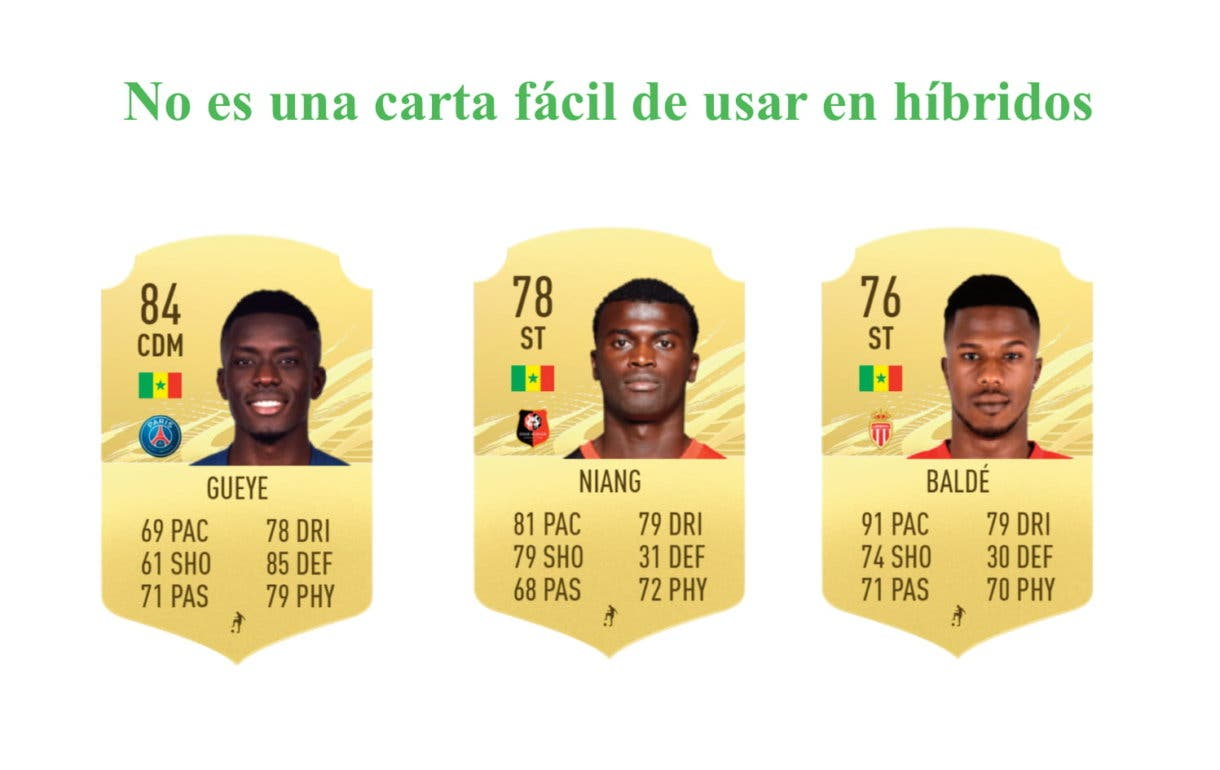 FIFA 21 Ultimate Team Niane POTM Ligue One links verdes.