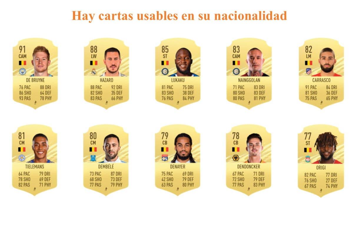 Links naranjas Witsel Flashback FIFA 21 Ultimate Team