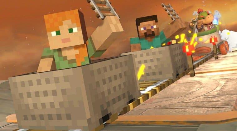 Imagen de Super Smash Bros. Ultimate revela fecha de llegada de Steve y compañía, de Minecraft