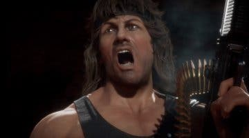 Imagen de Mortal Kombat 11 enseña a Rambo sacando músculo en su primer gameplay