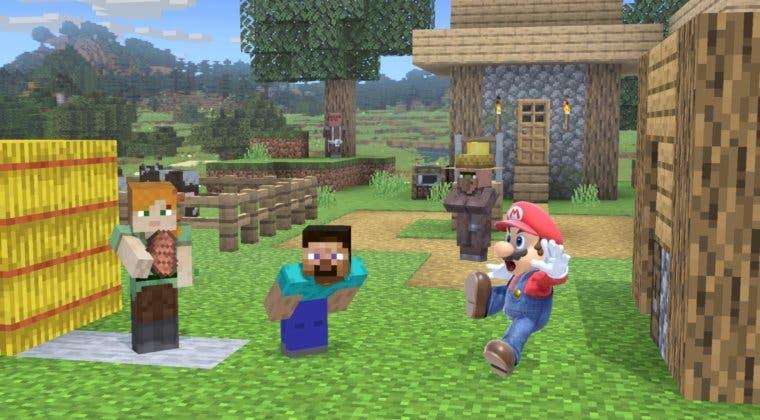 Imagen de Super Smash Bros. Ultimate: Cómo elegir el bioma del escenario de Minecraft