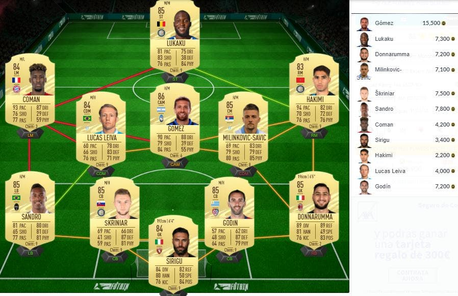 FIFA 21 Ultimate Team Robert Lewandowski POTM Octubre Bundesliga