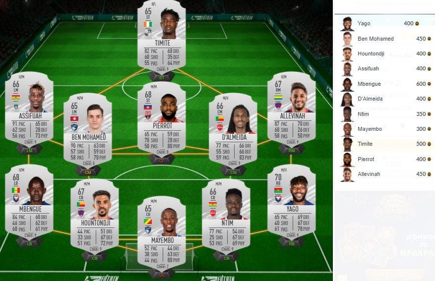 FIFA 21 Ultimate Team Javier Zanetti Icono Medio SBC