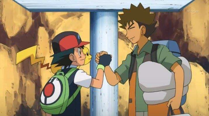 Anime de Pokémon Ash y Brock despedida Sinnoh
