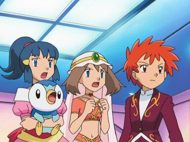 Anime de Pokémon Aura Maya y Zoe Copa Plubio