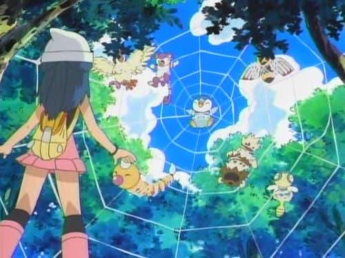 Anime de Pokémon Piplup telaraña 2